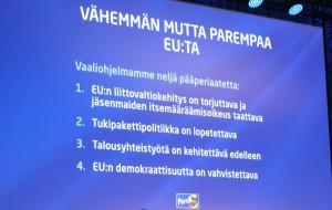 Perussuomalaisten EU-vaaliohjelman julkistus 29.3.2014.