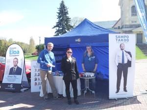 Kuvassa vasemmalta Simon Elo, Jenni Lastuvuori ja Jaana Manninen.