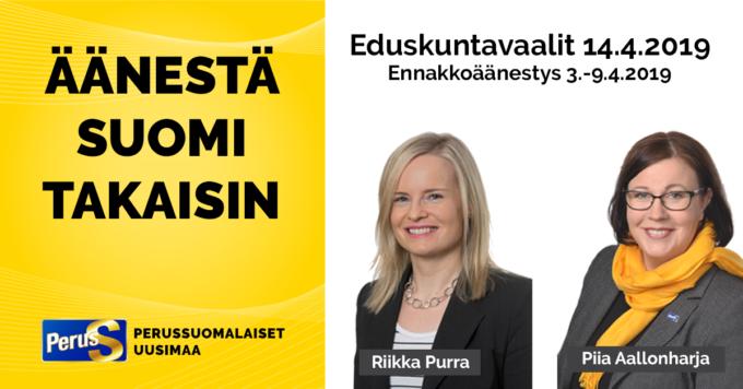 Perussuomalaiset Eduskuntavaaliehdokkaat 2021